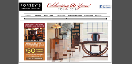 Forseyu0027s Furniture Gallery  Website